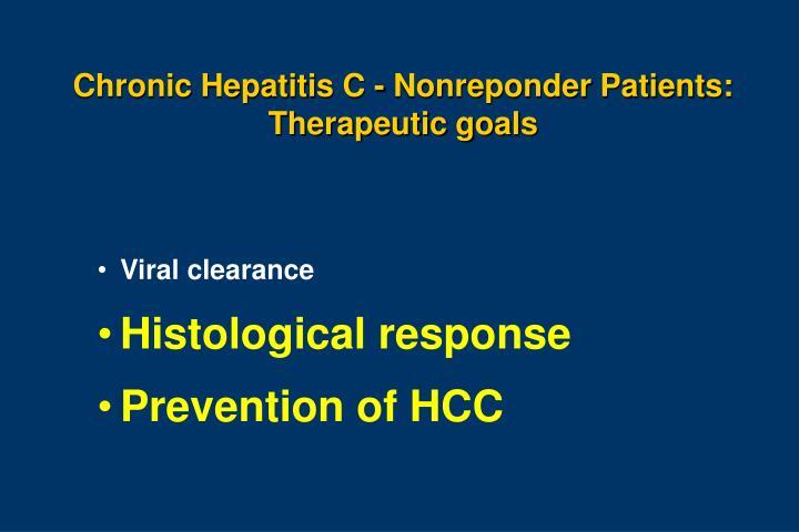 Chronic Hepatitis C - Nonreponder Patients: