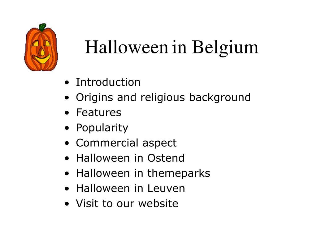 halloween in belgium l.