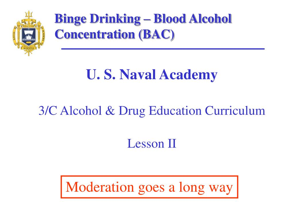 u s naval academy 3 c alcohol drug education curriculum lesson ii l.