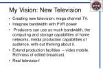 my vision new television