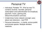 personal tv