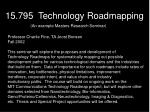 15 795 technology roadmapping