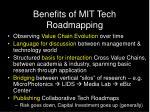 benefits of mit tech roadmapping
