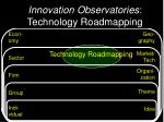 innovation observatories technology roadmapping