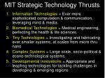 mit strategic technology thrusts