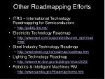 other roadmapping efforts