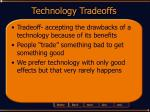 technology tradeoffs