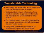 transferable technology