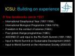icsu building on experience