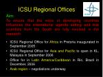 icsu regional offices