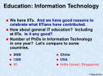 education information technology