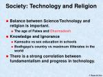 society technology and religion