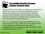 accessibility benefits everyone bridging the digital divide