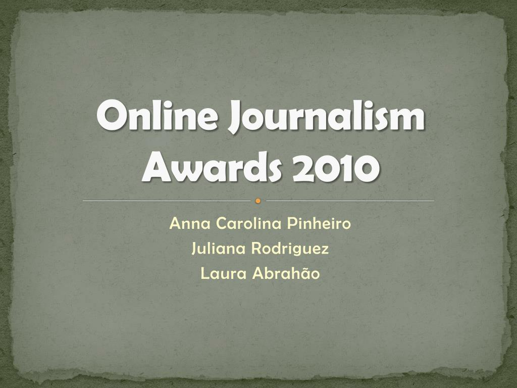online journalism awards 2010 l.