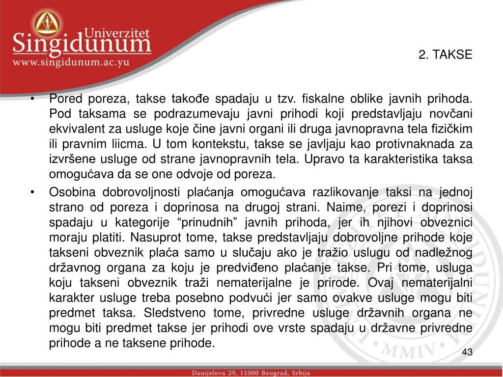 2. TAKSE