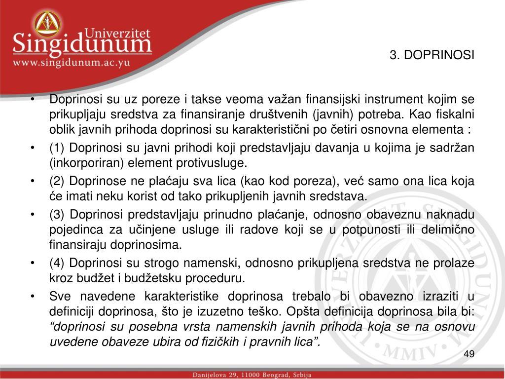 3. DOPRINOSI
