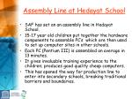 assembly line at hedayat school