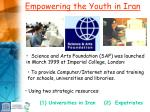 empowering the youth in iran