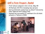 saf s first project roshd