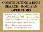 constructing a deep search boolean operators
