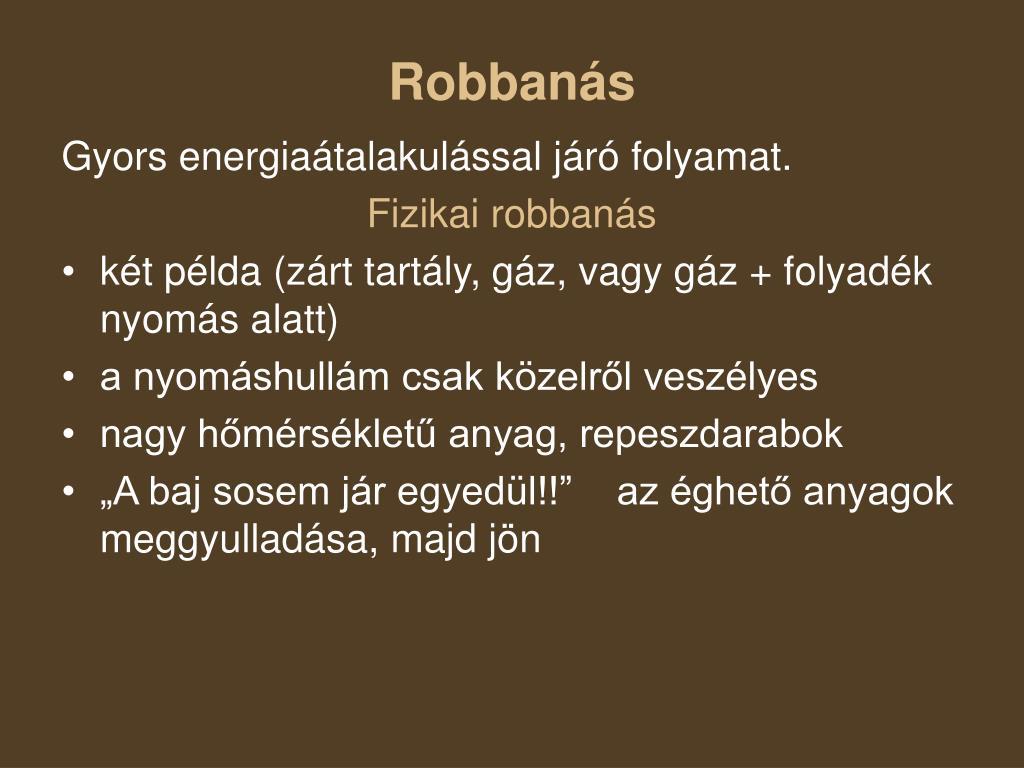 Robbanás