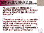 delphi group research on the value of open software standards28