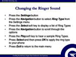 changing the ringer sound
