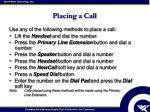 placing a call