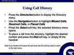 using call history