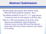 abstract submission