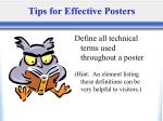 tips for effective posters33