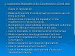 gaps in legislation