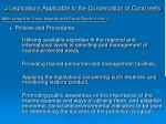 legislations applicable to the conservation of coral reefs14