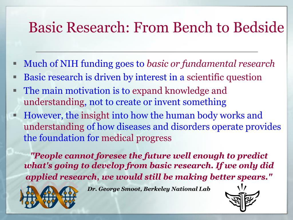 Basic Research: From Bench to Bedside