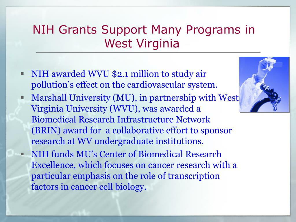 NIH Grants Support Many Programs in West Virginia