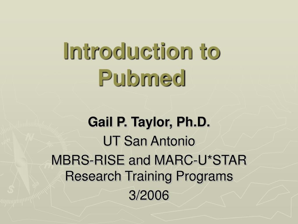 introduction to pubmed l.