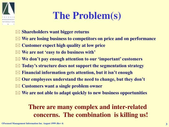 The problem s