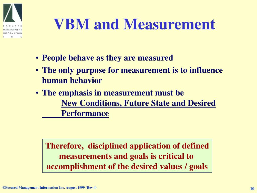 VBM and Measurement