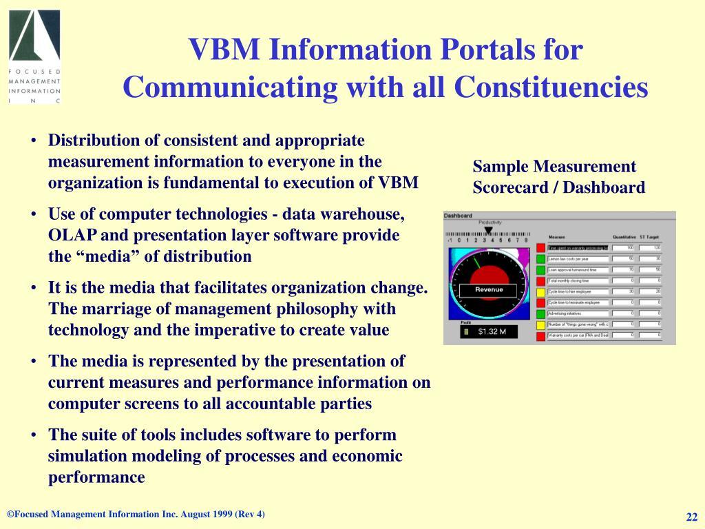 VBM Information Portals for