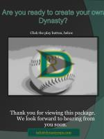are you ready to create your own dynasty