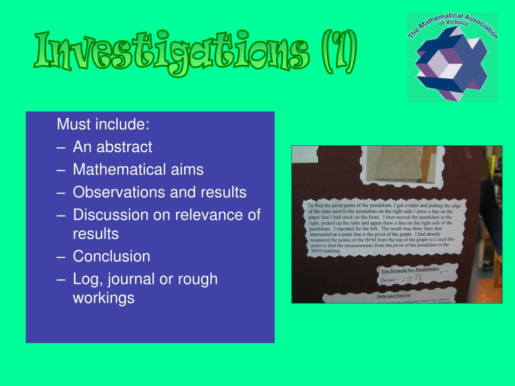 Investigations (1)