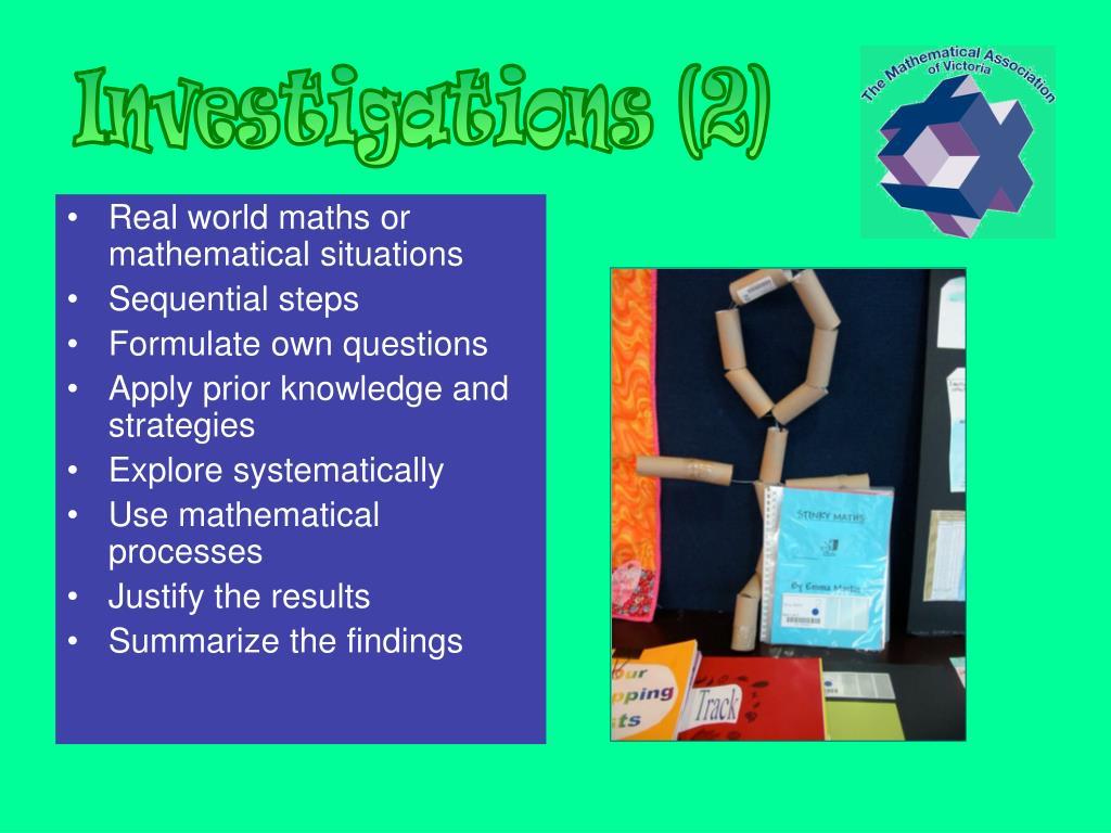 Investigations (2)