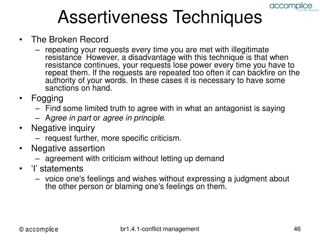 Assertiveness Techniques