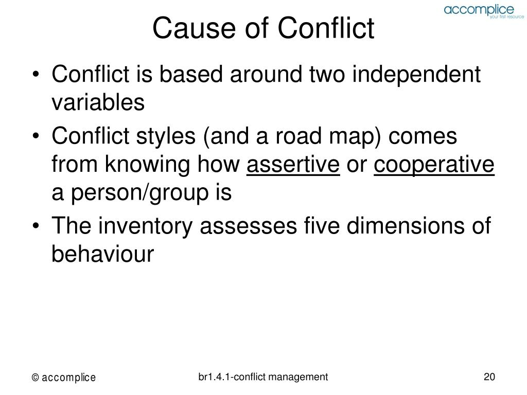 Cause of Conflict