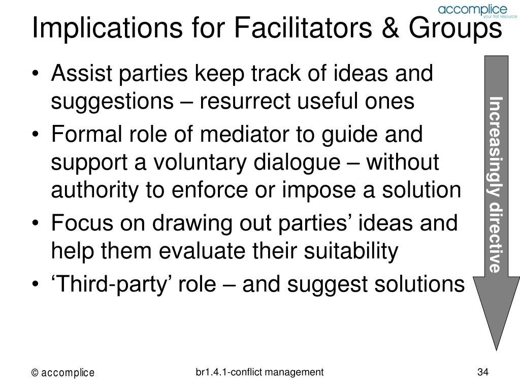 Implications for Facilitators & Groups