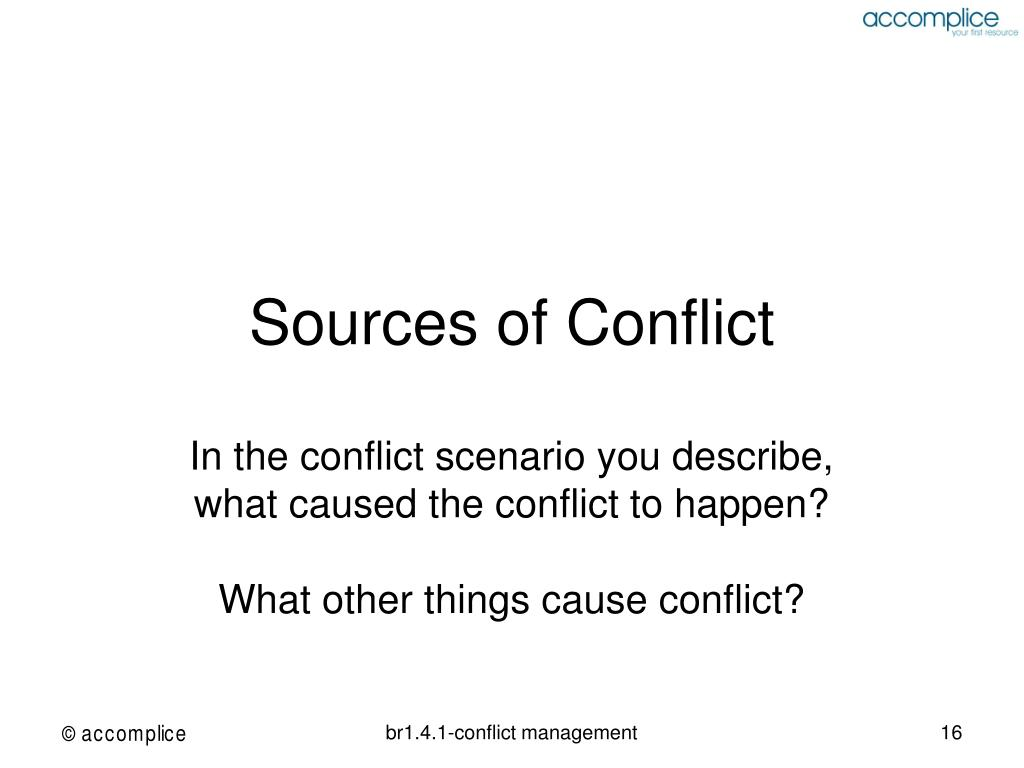 Sources of Conflict