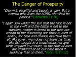 the danger of prosperity11