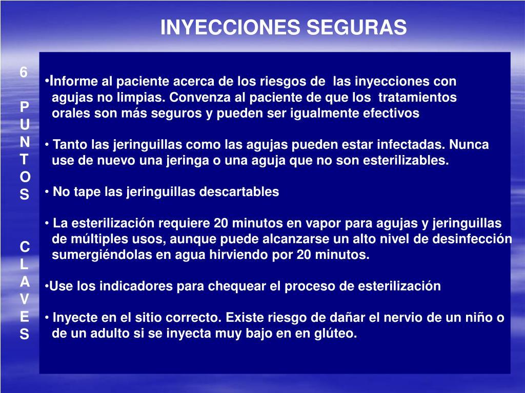 INYECCIONES SEGURAS