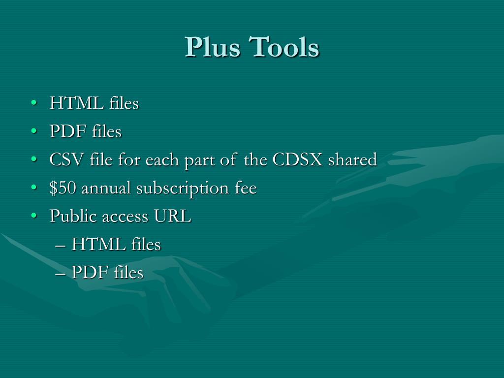 Plus Tools