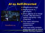 ai as self directed